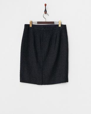 ネイビー  フローレンスツィード スカート・LL~見る