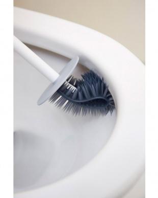 ホワイト  PlaTawa for Toiletケース付きトイレ用ブラシ見る