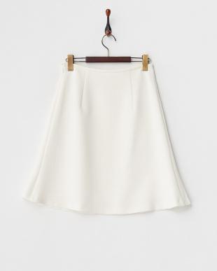 ホワイト Aラインスカート見る