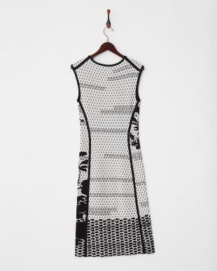 ブラック系 ジャガードニットドレス見る