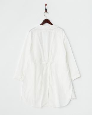 ホワイト レクセルリネンシャツジャケット見る