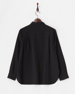 ブラック  ポリエステルツイルシャツ見る