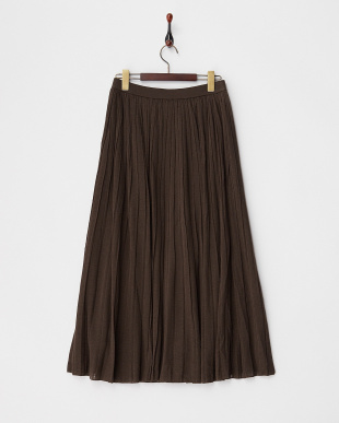ブラウン MICA&DEAL プリーツニットスカート見る