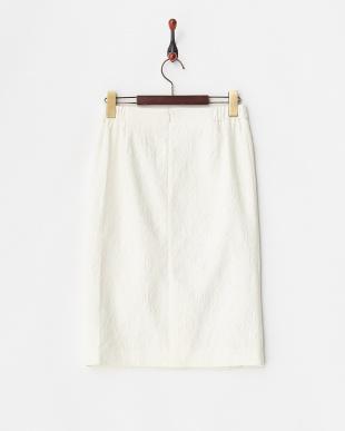 アイボリー  フラワージャガードスカート見る