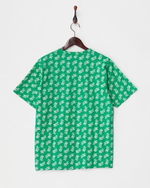 グリーン 20モノグラム調柄Tシャツ見る