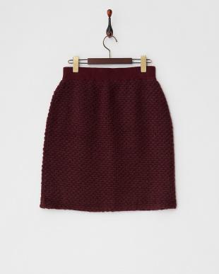 ボルドー ポップコーンフリースタイトスカート見る