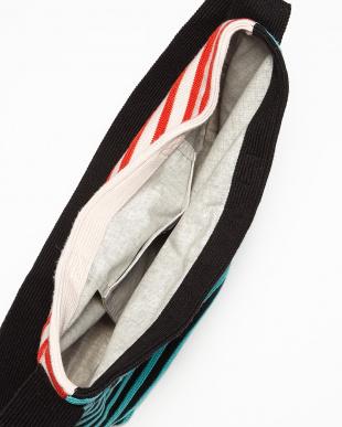 ブラック×レッド  カラー切替ショルダートートバッグ見る