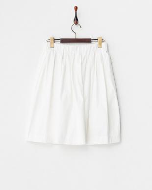 ホワイト タックギャザースカート見る