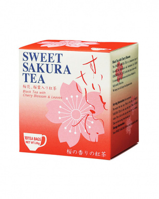 スイートサクラティー4種セット(紅茶・緑茶・桜花・ほうじ茶)見る