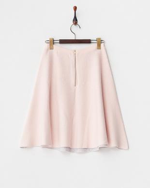 サーモンピンク  セッケツ配色フレアスカート見る