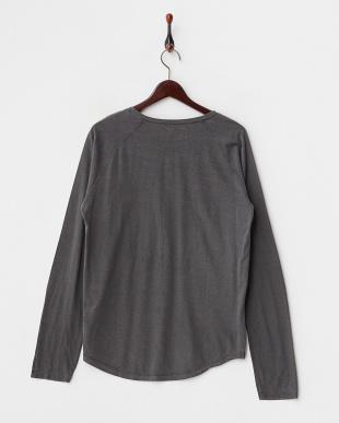 ブラック  C/RベーシックヘンリーネックTシャツ見る