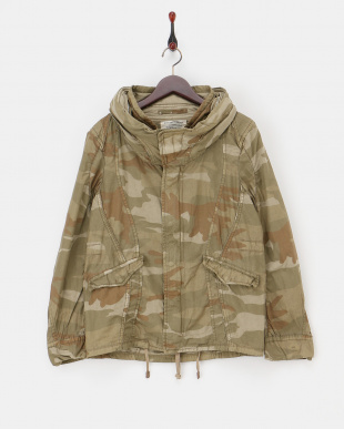 カモフラージュ  バックツイルクロゼットフードジャケット|MEN見る