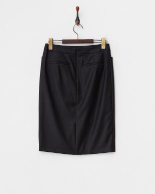 ブラック  S/Wギャバストレッチスカート見る