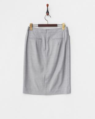 グレー  S/Wギャバストレッチスカート見る