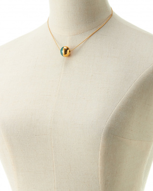 GOLD×EMERALD  BICOLOR BALL NECKLACE見る