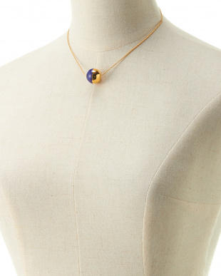 NAVY×GOLD  BICOLOR BALL NECKLACE見る