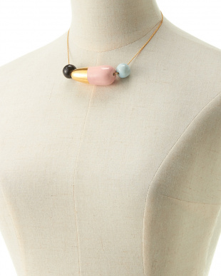 BLACK×GOLD/PINK×BLUE THREE PIECES NECKLACE見る