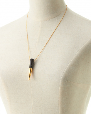 BLACK×GOLD  FLAT-TOP FANG  NECKLACE見る