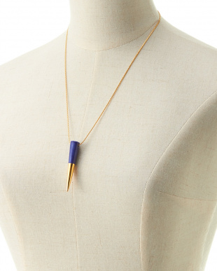 NAVY×GOLD  FLAT-TOP FANG  NECKLACE見る