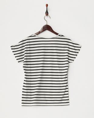 オフホワイト/ブラック サングラスボーダーTシャツ見る