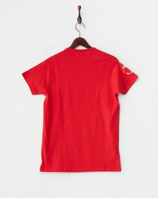 レッド  サイドアンカープリント ラグランスリーブTシャツ見る