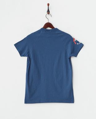 ネイビー  サイドアンカープリント ラグランスリーブTシャツ見る