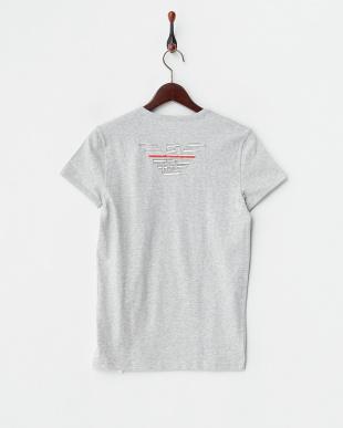 グレー  バックイーグル半袖Tシャツ見る