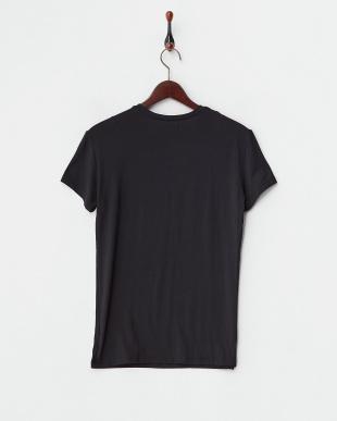 ブラック  浅Vネック半袖Tシャツ見る