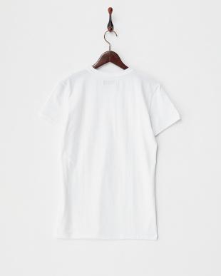 ホワイト  クルーネックTシャツ見る