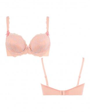 ピンク系  恋するブラ423 ブラジャー見る