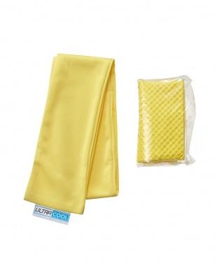 イエロー  日本製 洗えるひんやりタオル & ICE 3D TOWEL(Mサイズ)セット見る