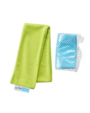 グリーン/ターコイズ  日本製 洗えるひんやりタオル & ICE 3D TOWEL(Mサイズ)セット見る
