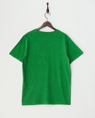 GREEN  ピグメント加工VネックポケットTシャツ見る