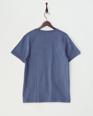 NAVY  ピグメント加工VネックポケットTシャツ見る