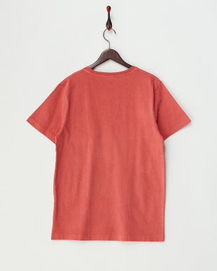 RED  ピグメント加工クルーネックポケットTシャツ見る