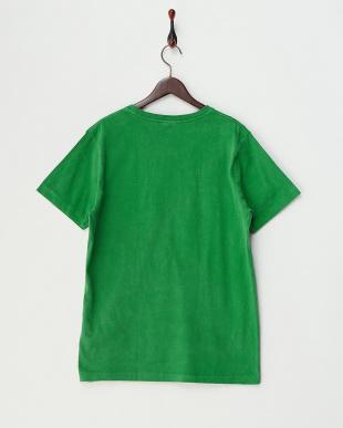 GREEN  ピグメント加工クルーネックポケットTシャツ見る