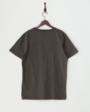 BLACK  ピグメント加工クルーネックポケットTシャツ見る