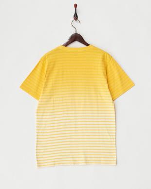 YELLOW  ボーダーグラデーションクルーネックTシャツ見る