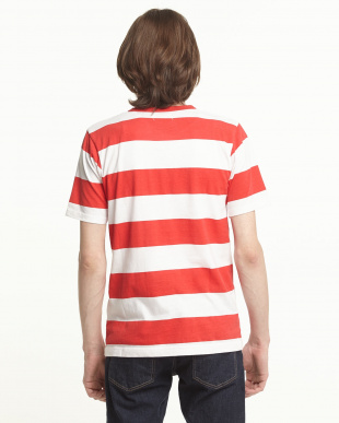 RED  ボーダークルーネックTシャツ見る