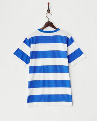 BLUE ボーダークルーネックTシャツ見る