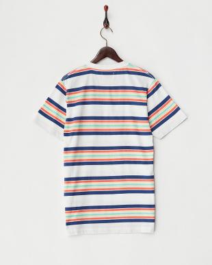 MULTI  マルチボーダークルーネックTシャツ見る