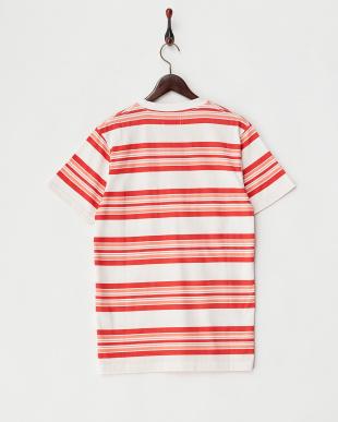 RED  マルチボーダークルーネックTシャツ見る