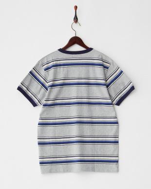 BLUE マルチボーダーTシャツ見る