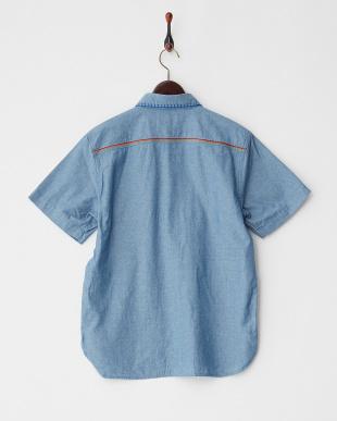 BLUE  刺繍シャンブレーシャツ見る