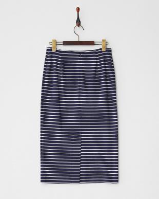 MIDNIGHT NAVY OCCULTO Jersey Skirt見る