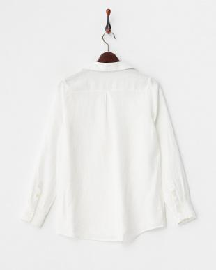 オフホワイト  フレンチリネンスキッパープルオーバーシャツ見る