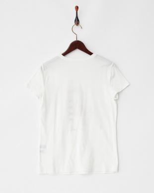 ホワイト リヨセル綿 装飾イラスト入りTシャツ見る
