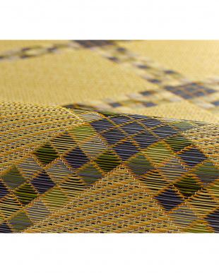 ブルー  ローレン 国産い草ラグ 191×191cm見る