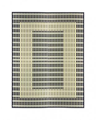 ブルー  築彩 国産い草ラグ 191×250cm見る