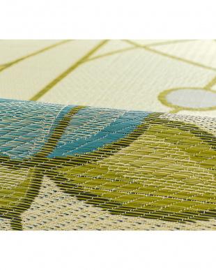 ブルー  オリヴィア 国産い草ラグ 191×191cm見る